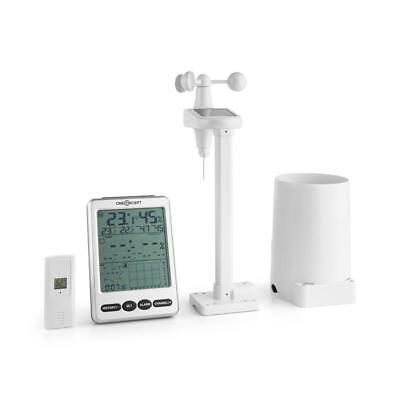 Oneconcept Outdoor Wireless Weather Station Lcd Temparature Alarm Wind Remote