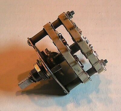 NOS Military 4P-5T Ceramic Rotary Switch Silver contacts.