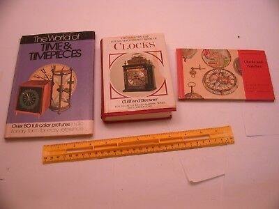 Book 37 - Lot of 3 watch and clock books