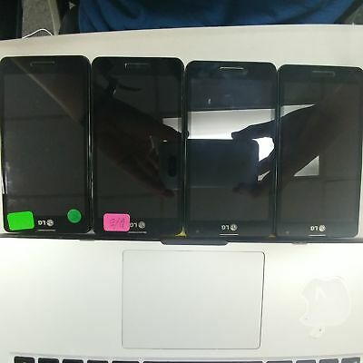 Lot of 4 LG Optimus F7 US780 *BAD ESN Wholesale Android Smart Cellphone BULK 110