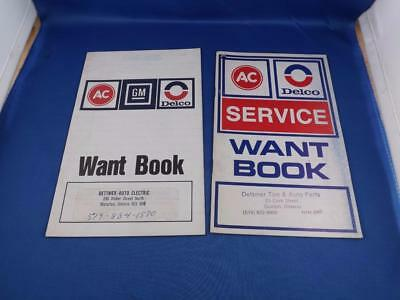 Ac Delco Service Want Books Lot 2 Car Truck Parts Dettmer Tire Electric Guelph