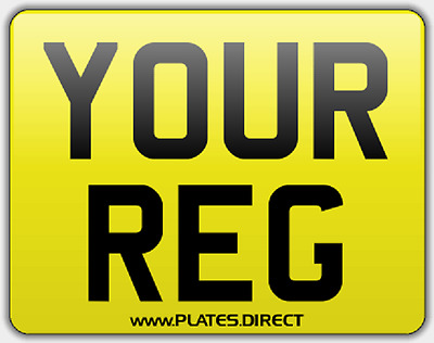 SQUARE TRAILER TAXI PLATE 4x4 PLATE 11 x 8  FREEPOST NUMBER PLATES.DIRECT LTD
