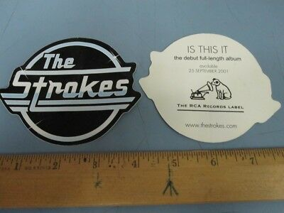 The Strokes 2001 Debut Album RCA Promotional Sticker New Old Stock Flawless