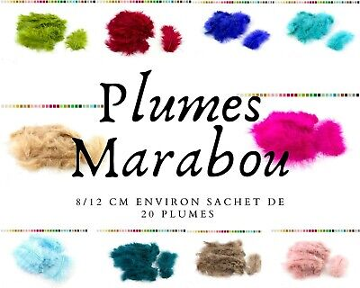 plumes marabou loisir creatif 8-12 cm ideal attrapes reves masque deco bouquet
