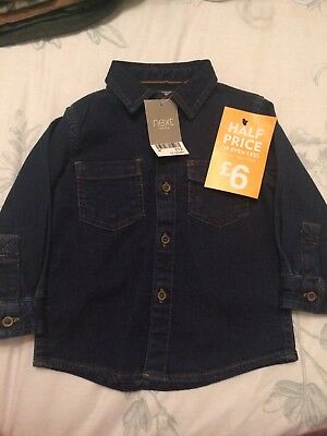 Next Boys Denim Shirt - 12-18 Months - New With Tags