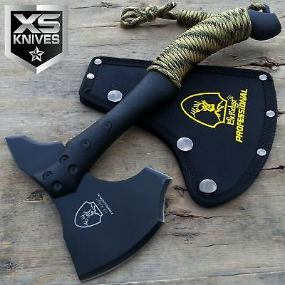 """11"""" Tactical Black Tomahawk Hunting Axe Throwing Battle Hatchet Camping Survival"""