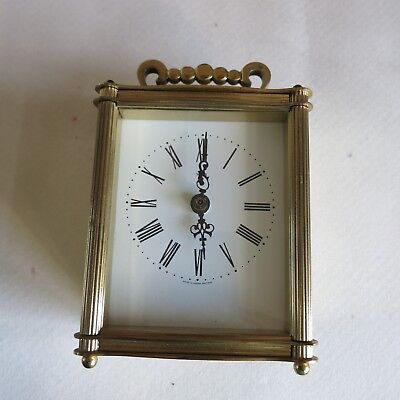 Carriage clock brass battery operated