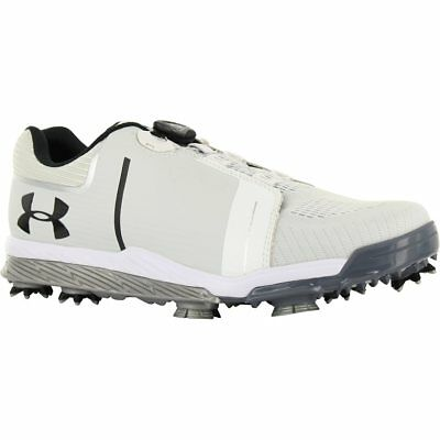 NEW Mens Under Armour UA Tempo Sport BOA Golf Shoes White / Black - Choose Size!