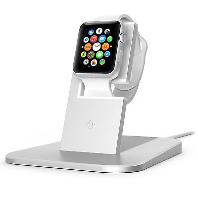 Twelve South HiRise stand for Apple Watch, silver | Metal charging dock for