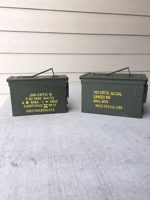 Ammo can US Military Metal Storage Cans 50 Cal 30 Cal