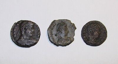 Antique Coins Of Ancient Rome, Byzantia. Bronze. Original.