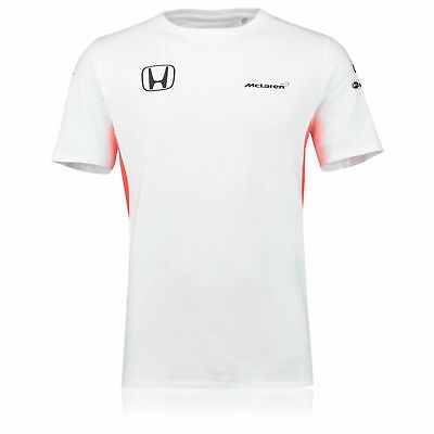 Official McLaren Honda 2017 Team Men's Set Up T-Shirt - White, Size: XXL, 3XL