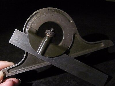 Vintage Protractor Angle Gauge compound square steel Ruler