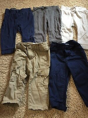 Old Navy Baby Boys Pants Size 12-18 Months Lot Of 5