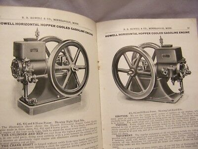 1910's R. R. Howell & Co. Gas Engines & Machinery Catalog