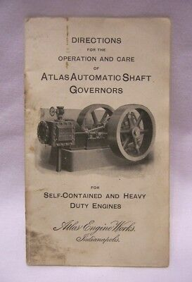 1910's Atlas Engine Works Heavy Duty Engines Atlas Governors Directions