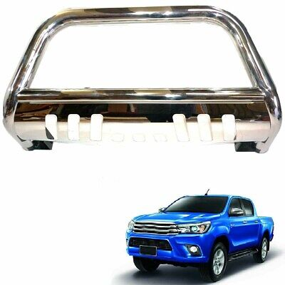 Toyota Hilux Revo 2016 Front Chrome High Bull Bar Nuge Bar Chrome Axle Nudge M76
