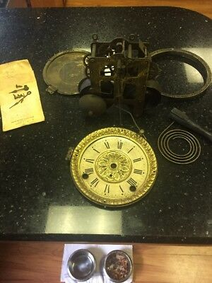 Antique Seth Thomas Movement And Parts