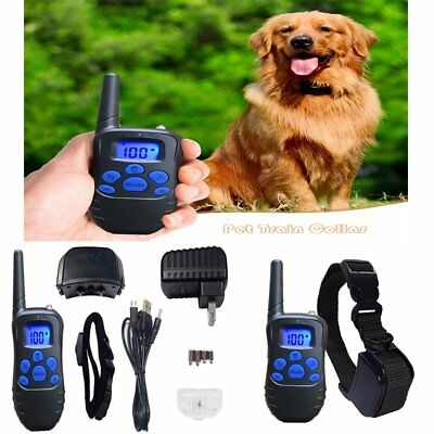 Rechargeable LCD Electric 100LV Dog Training Shock Collar Remote Controller