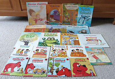 Lot 20 Easy Reader Books/paperback/clifford/mousetrap/look Inside + More/euc