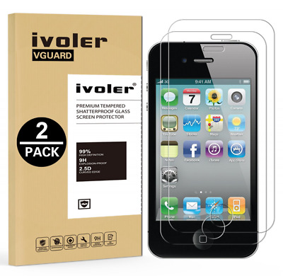 [2-Pack] iPhone 4 / 4S Protection écran , iVoler® Film Protection d'écran en Ver