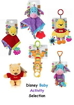 Winnie the Pooh Baby Activity Toy Comforter Rattle Play Gift