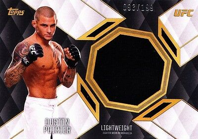 2016 Topps UFC Top Of The Class Relics Insert - Dustin Poirier (TCR-DP) 093/199