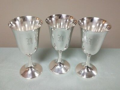 Manchester Silver Co Sterling Silver 954 Water Goblet Old English Monogram R
