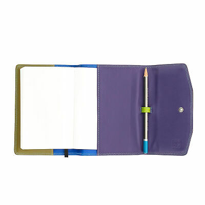 DUDU Leather Organiser A6 with Block and Pencil included with Button closure Woo