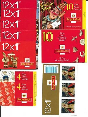 100 1st Class Postage Stamps - New in Booklets