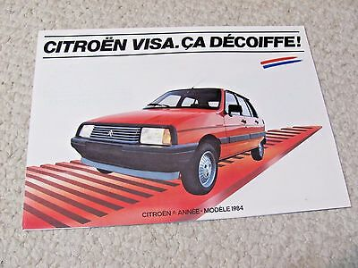 1984 Citroen Visa (Fr) Sales Brochure..