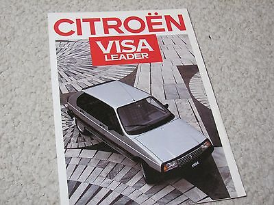 1987 Citroen Visa Leader (Fr) Sales Brochure...