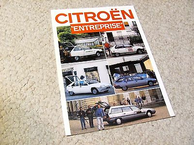 1987 Citroen Enterprise Sales Brochure..