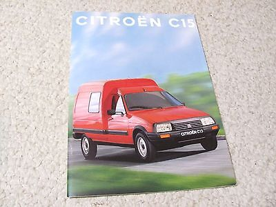 1993 Citroen C15 (Swiss) Sales Brochure...