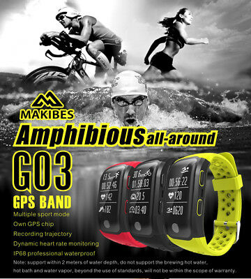 Makibes G03 IP68 Waterproof Heart Rate Call Reminder GPS Smart Band watch reloj