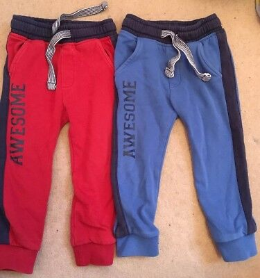 Boys Tracksuit Bottoms Matalan 18-24 Months red and blue