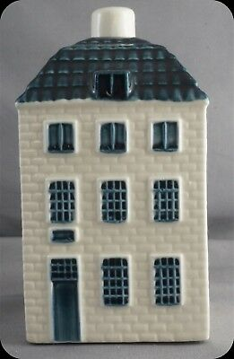 KLM Blue Delft Miniature House Decanter #55 Made for KLM By Bols Distilleries