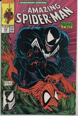 Amazing Spider-Man #316 McFarlane Venom Cover!!! Marvel Comics 1989 Copper Age