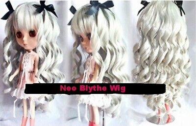 NEO BLYTHE Gray Long Wig with Ringlets (MELENA PELUCA CUSTOM). BRAND NEW!