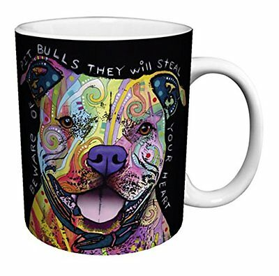Dean Glassware & Drinkware Russo Dog Pit Bulls Steal Your Heart Quote Modern Art