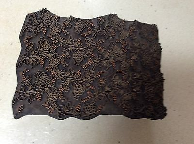 Antique Rare Wooden Hand Carved Textile Printing Block / Stamp / Dye