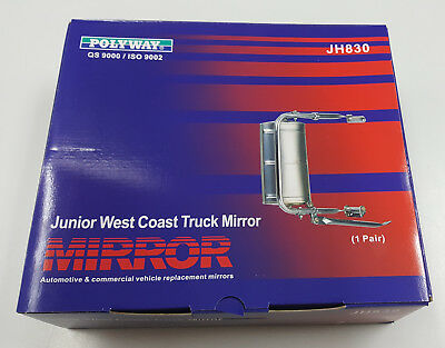 Junior West Coast Truck Mirror **NEW** For Vans, Utes, Pickups Auto / Commercial