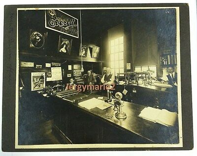 EVERETT BREWING COMPANY ORIGINAL PHOTO May 1909 of brewry office in Washington