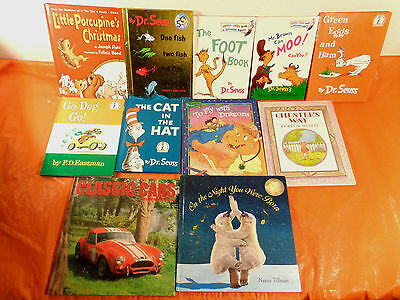 Lot of 69 HC Picture Books: Dr. Seuss, Winnie Pooh, Mike Mulligan, K-2, VG-EXC
