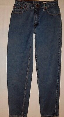 Levi 550 denim Jeans 11 M (30x29.5) vtg Relaxed Fit Tapered Leg Levis Blue B12