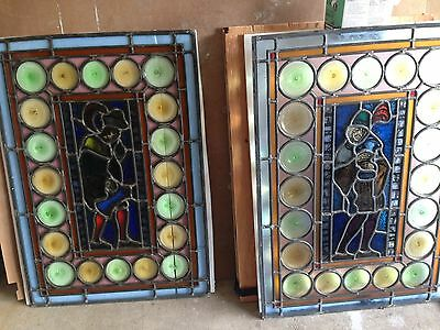 Stained Leaded Glass Bavarian German