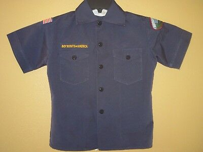 Boy Scouts of America (BSA) Scout Shirt Size Youth SMALL & Tiger Cub Hat