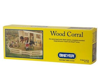 Breyer Wood Corral 11 Sections Toy Set 7500
