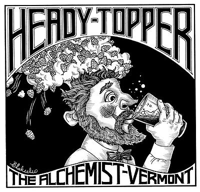 New The Alchemist Heady Topper VT beer decal sticker Vermont beer