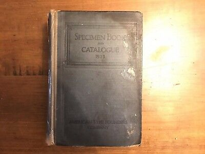 1923 American Type Founders Specimen Book and Catalogue